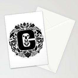 Letter C monogram wildwood Stationery Cards