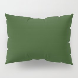 Solid Dark Forest Green Simple Solid Color All Over Print Kissenbezug