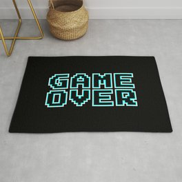 GAME OVER (blue) Rug