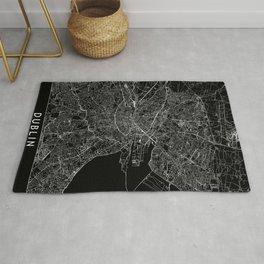 Dublin Black Map Rug
