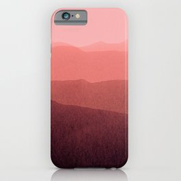 gradient landscape red iPhone Case