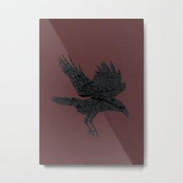 London, as the Raven Flies Metal Print