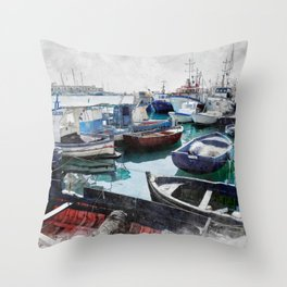 Trapani art 5 Throw Pillow