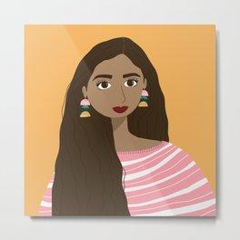 Aubree | Female Digital Illustration Art Print Metal Print