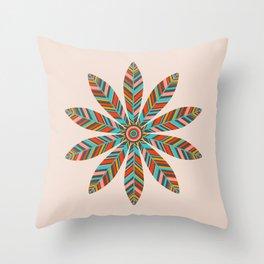 PETAL MANDALA - LIGHT Throw Pillow