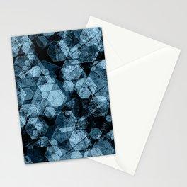 Blue hexagons. Kaleidoscope Stationery Cards