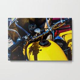 Details Of A Vintage Motorbike Color Metal Print