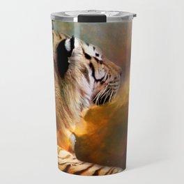 Tiger and Nebula Travel Mug