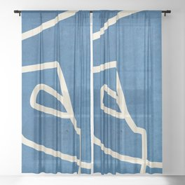 abstract minimal 57 Sheer Curtain