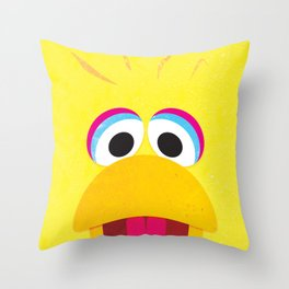 Minimal Bigbird Throw Pillow