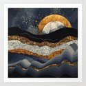 Metallic Mountains by spacefrogdesigns