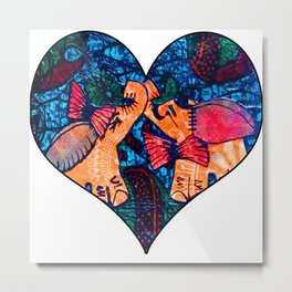 Love Elephants Metal Print