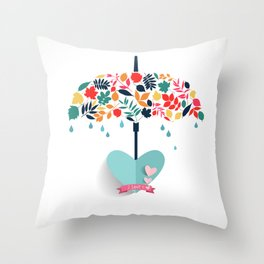 Valentines day special Love Umbrella Throw Pillow