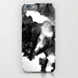 """French Black Marble - """"Marbre Noir"""" - On White Background iPhone Case"""