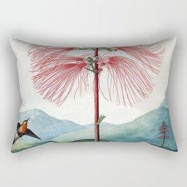 Large Flowering Sensitive Plant The Temple Of Flora Rectangular Pillow