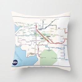 Beleriand Routemap Throw Pillow