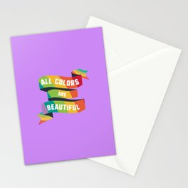 Pride All colors are beautiful T-Shirt Dfzrk Stationery Cards