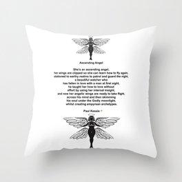 Ascending Angel Throw Pillow