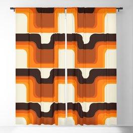 Mid-Century Modern Meets 1970s Orange Blackout Curtain