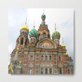 St Petersburg Russia Church Metal Print