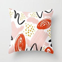 Playful Scribble Throw Pillow