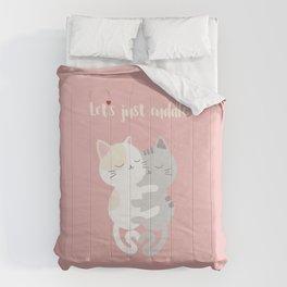 Cuddling kittens Comforters