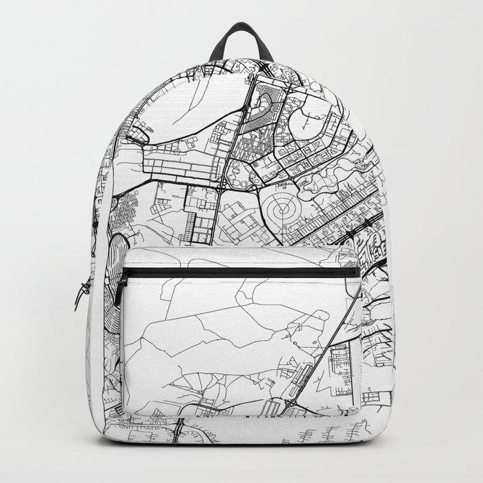 Brasilia Map White Backpack