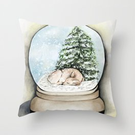 Snow Globe Throw Pillow