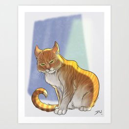 Royal Cat Art Print