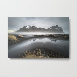 """Excite"" - A Moody Morning (Vestrahorn, Iceland) Metal Print"