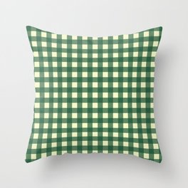 FORREST GREEN CHECK Throw Pillow