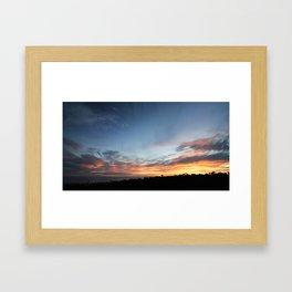 SUMMER SUNSET SC #1 Framed Art Print