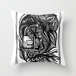 Locked in. Throw Pillow