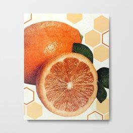 Tropical Print - Orange, Grapefruit, Tangerine - Modern Wall Art Print - Tropical Poster Metal Print