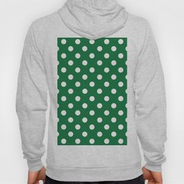 Polka Dots (White & Dark Green Pattern) Hoody