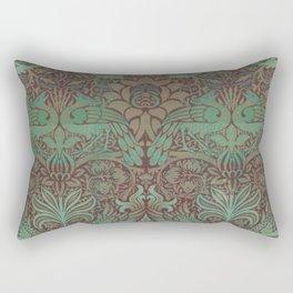 Peacock Dragon Sage and Thistle Rectangular Pillow