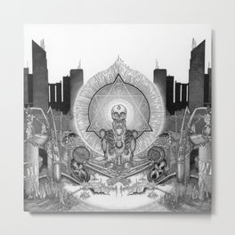 Demises: The Silver Hand Metal Print