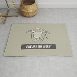 Ewe Are the Worst Rug