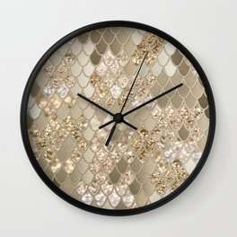 Mermaid Glitter Scales #5 (Faux Glitter) #shiny #decor #art #society6 Wall Clock