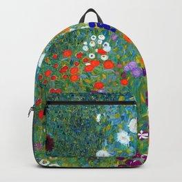Gustav Klimt Flower Garden Backpack