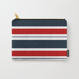 Red, White, and Blue Horizontal Striped Carry-All Pouch