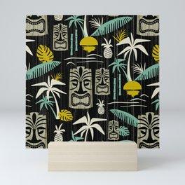 Island Tiki - Black Mini Art Print