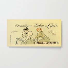 1894 Paris Second Expo of the bicycle horizontal banner Metal Print