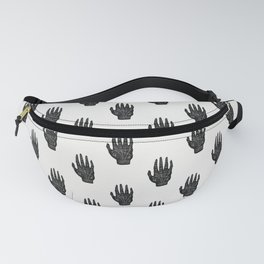 Palm Reading Chart - Black on White Fanny Pack