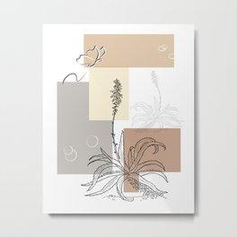 Botanical Cactus 3 Metal Print