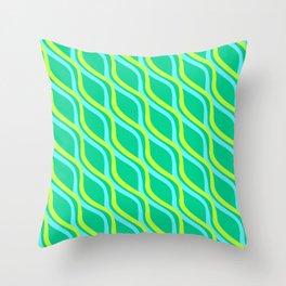 Ocean Streamer Throw Pillow