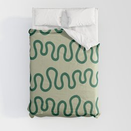 Coral Green Comforters