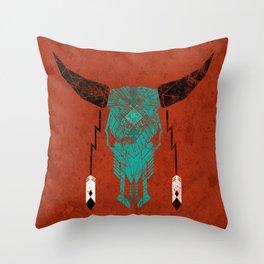 Southwest Skull Throw Pillow