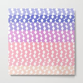 Geometrical abstract ombre pink lilac lavender pattern Metal Print