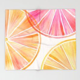 Summer Citrus Party Throw Blanket